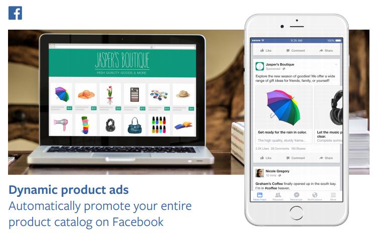 Product Ads מודעות מוצר בפייסבוק